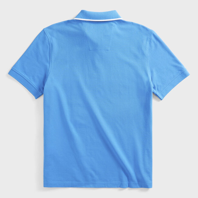 CLASSIC FIT STRIPE OXFORD POLO,Clear Sky Blue,large