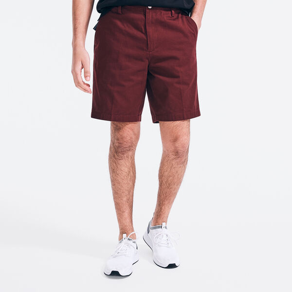 "8.5"" COTTON-TWILL DECK SHORT - Royal Burgundy"