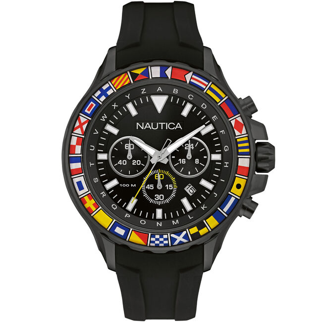 NST 1000 Chronograph Sport Watch - Black,Multi,large