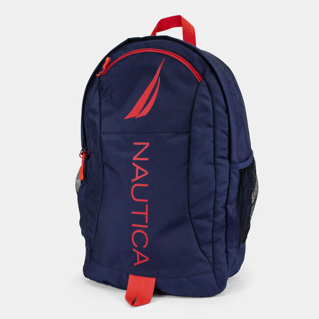 PANNELLED BACKPACK,Nautica Red,large