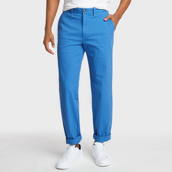CLASSIC FIT FLAT FRONT DECK PANT - Bolt Blue