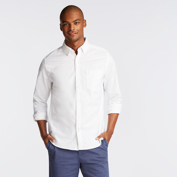 Long Sleeve Classic Fit Solid Oxford Shirt - Bright White
