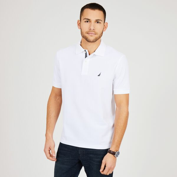 Big & Tall Performance Classic Fit Deck Polo - Bright White