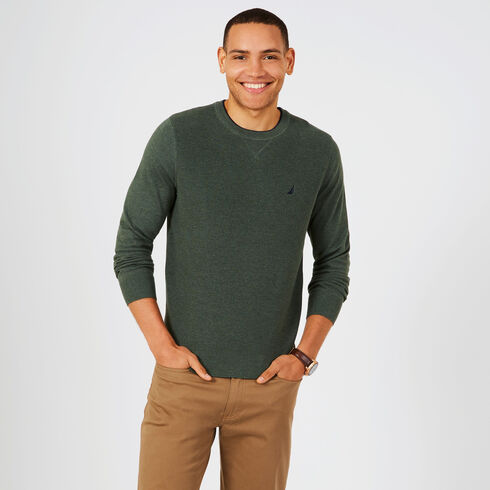 Navtech Performance Crewneck Sweater - Spinner Green
