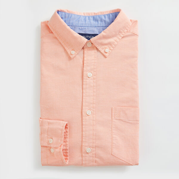 CLASSIC FIT LONG SLEEVE OXFORD SHIRT - Orange