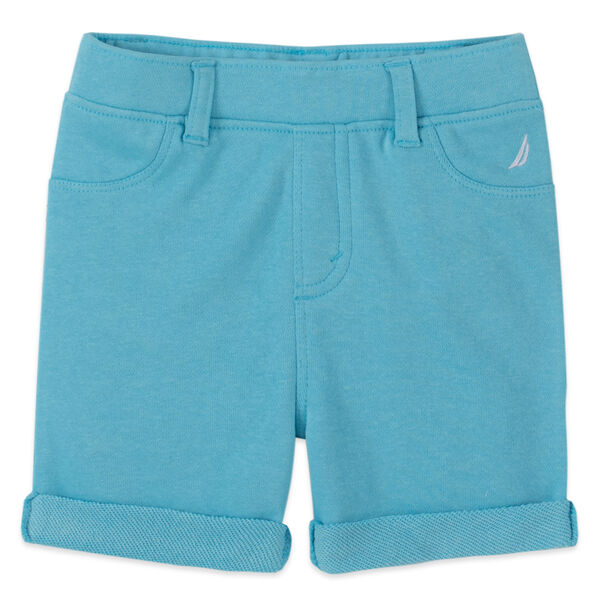 LITTLE GIRLS' STRETCH PULL-ON SHORT (4-7) - Stormy Blue Wash