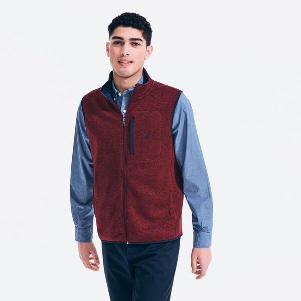 PERFORMANCE KNIT FLEECE VEST - Zinfandel