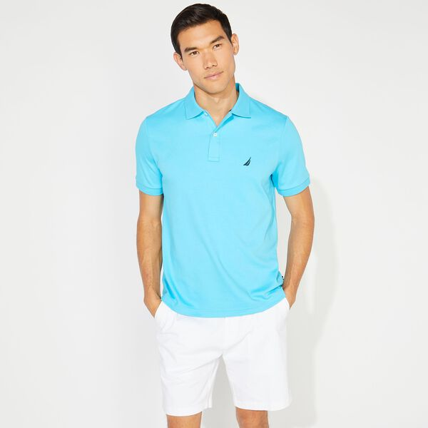 CLASSIC FIT PREMIUM COTTON POLO - Aqua Sky