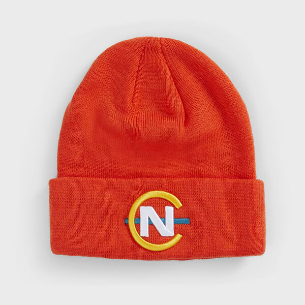 COMPETITION RIBBED-KNIT LOGO BEANIE - Nautica Red
