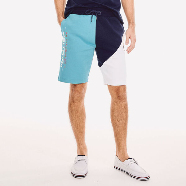 COMPETITION COLORBLOCK LOGO FLEECE SHORT - Navy