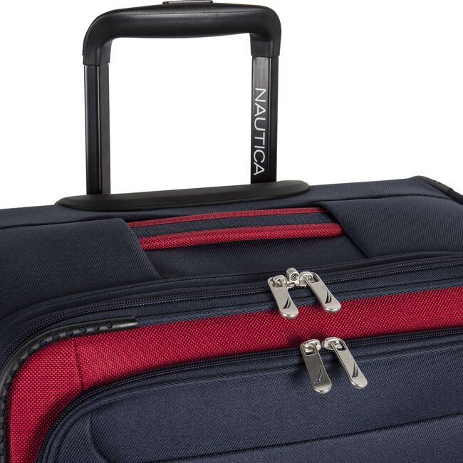 """Hayes Point 21"""" Expandable Luggage in Navy/Red,Navy,large"""