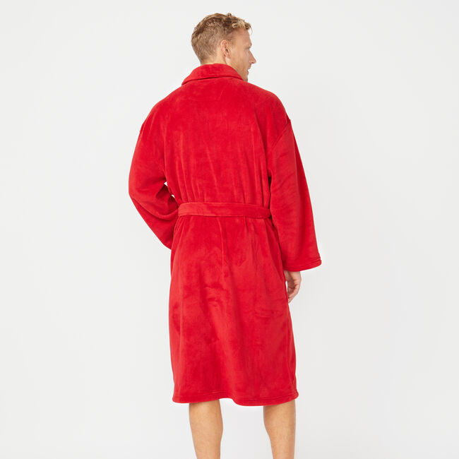 SOLID SHAWL COLLAR ROBE,Nautica Red,large