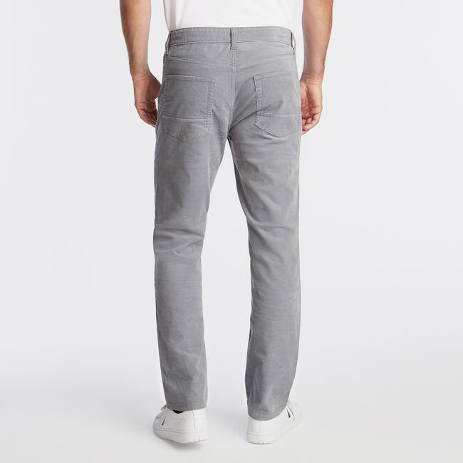 STRAIGHT FIT CORDUROY PANT WITH STRETCH,Seal Grey,large