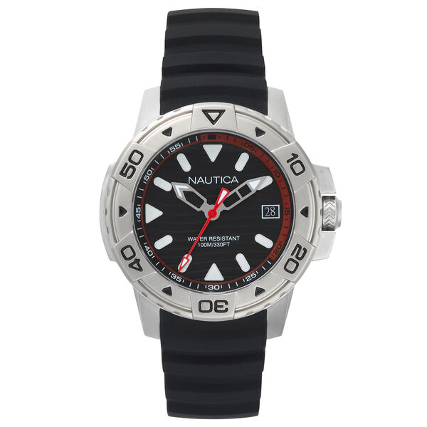 Edgewater Silicone Watch - Black - Black