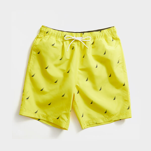 "8"" LOGO PRINT QUICK-DRY SWIM - Blazing Yellow"