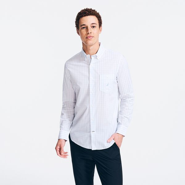 NAVTECH PLAID SHIRT - Crystal Bay Blue