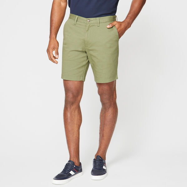 "8.5"" CLASSIC FIT DECK SHORTS WITH STRETCH - Olive Vine"