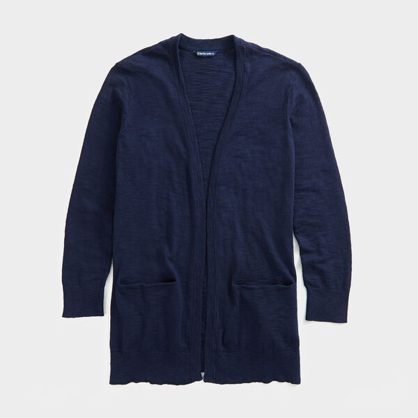 NAUTICA JEANS CO. OPEN-FRONT KNIT CARDIGAN - Stellar Blue Heather