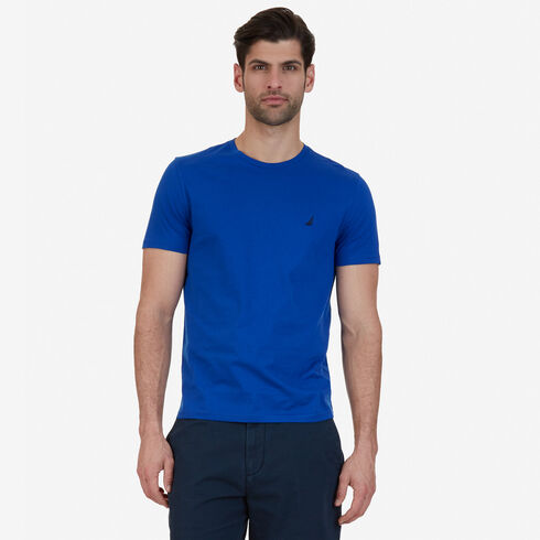 Big & Tall Short Sleeve Crewneck Logo T-Shirt - Bright Cobalt