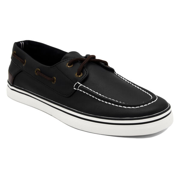 Galley 2 Boat Shoe in Black/Brown - True Black