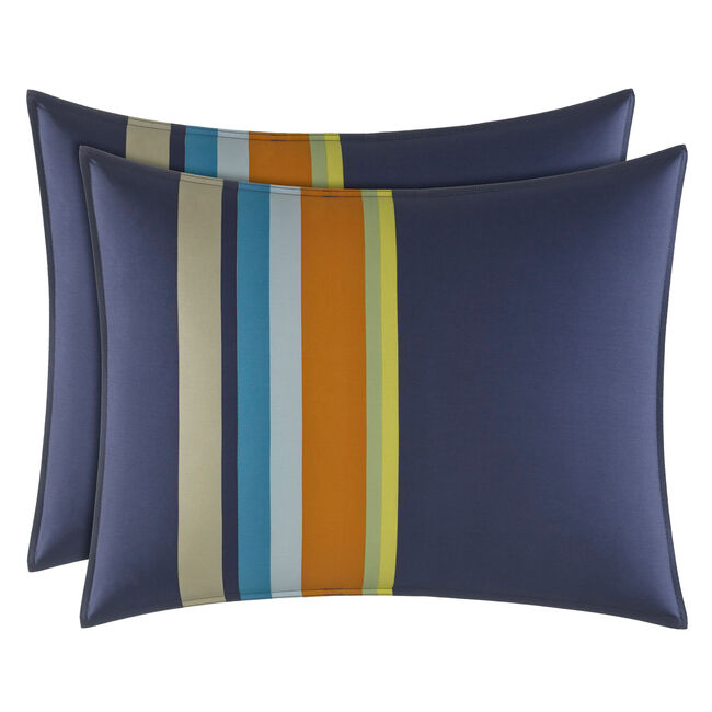 Sailing Stripe Comforter Set,Navy,large