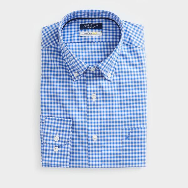 SLIM FIT WRINKLE-RESISTANT SHIRT IN PLAID - Rolling River Wash