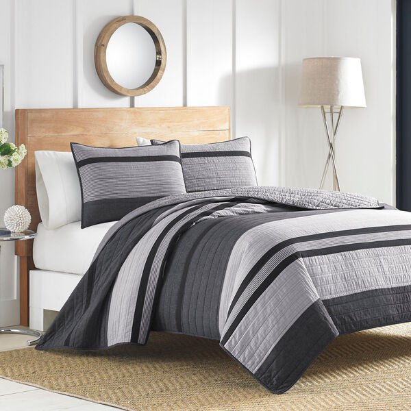 Vessey Quilt - Dark Grey