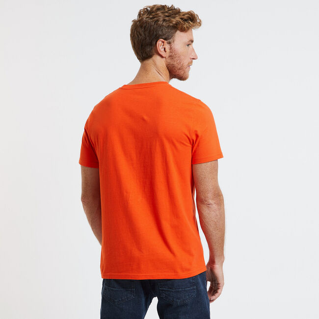 Ombre Sunset Surf Club T-Shirt,Spicy Orange,large