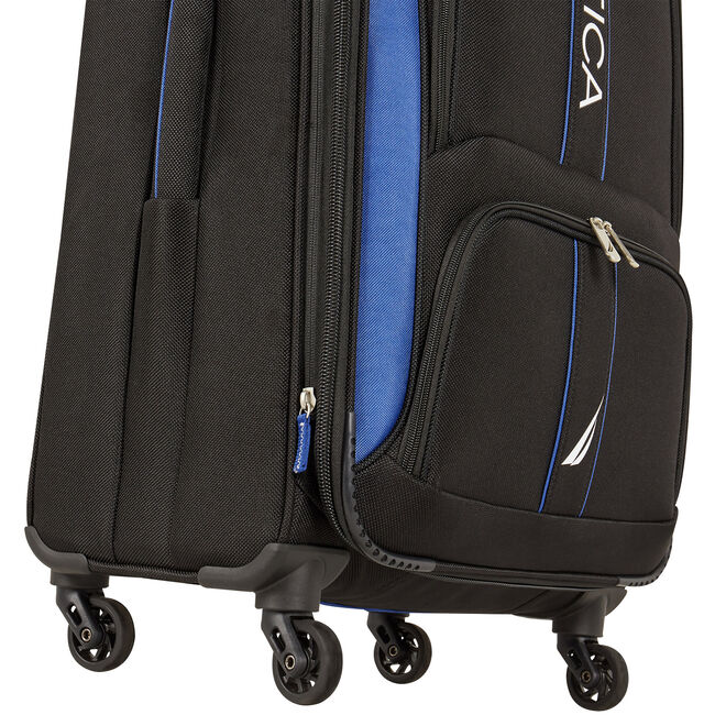 "Dodger 17"" Expandable Spinner Luggage,True Black,large"
