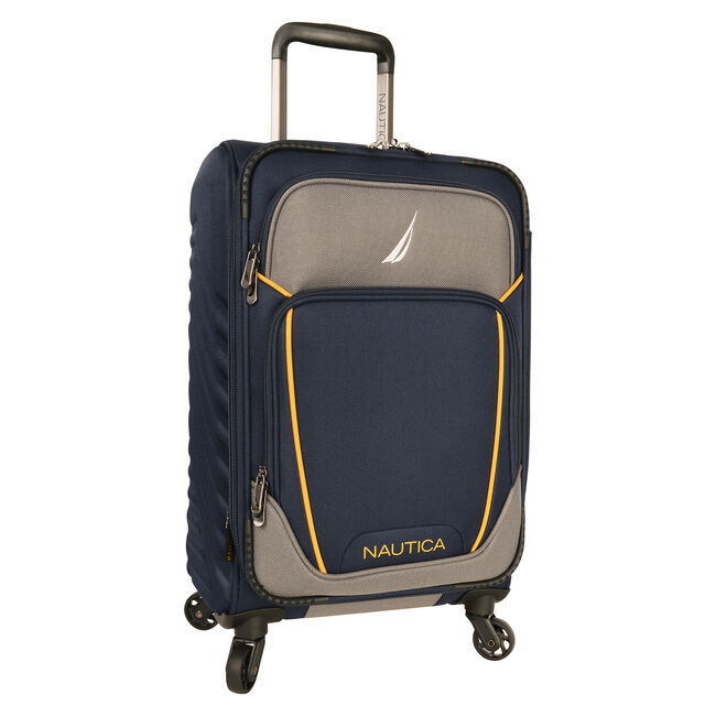 "Dockyard 20"" Expandable Spinner Luggage,Pure Dark Pacific Wash,large"