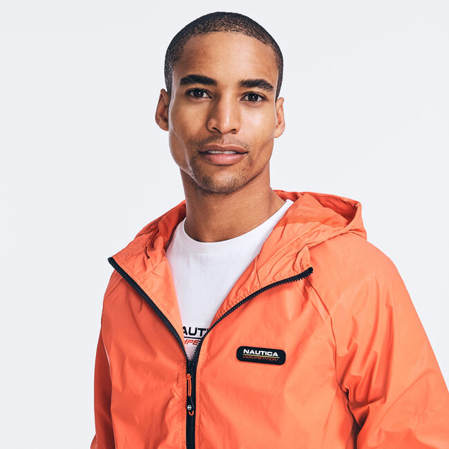 COMPETITION HOODED JACKET,Nautica Red,large