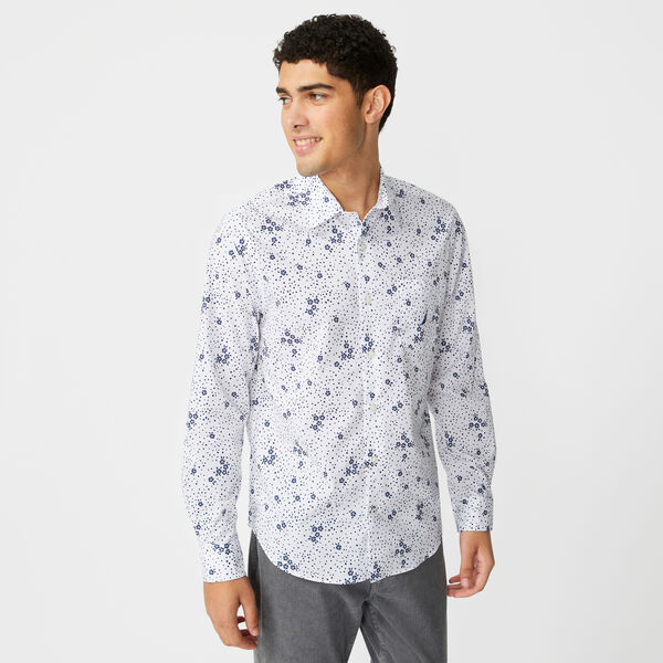 NAVTECH FLORAL POLKA DOT SHIRT - Bright White