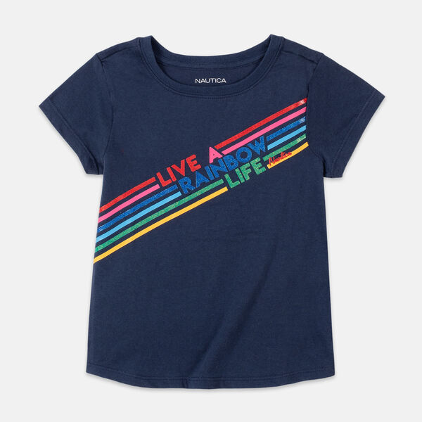 GIRLS' GRAPHIC T-SHIRT (8-20) - Navy