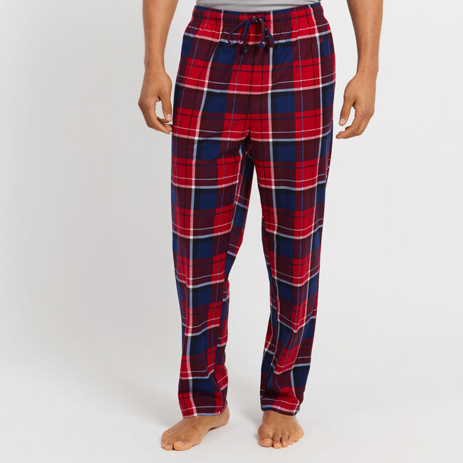 Classic Fit Fleece Pajama Pant in Plaid,Nautica Red,large