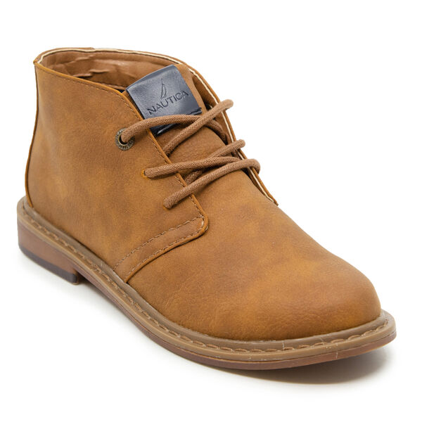 BOY'S NUBUCK CHUKKA BOOT - Dark Brown Heather