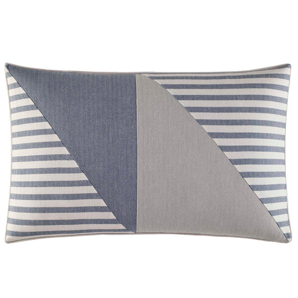 Fairwater Pieced Throw Pillow - Bright Cobalt