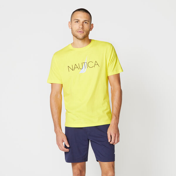 NAUTICA LOGO SLEEP T-SHIRT - Blazing Yellow