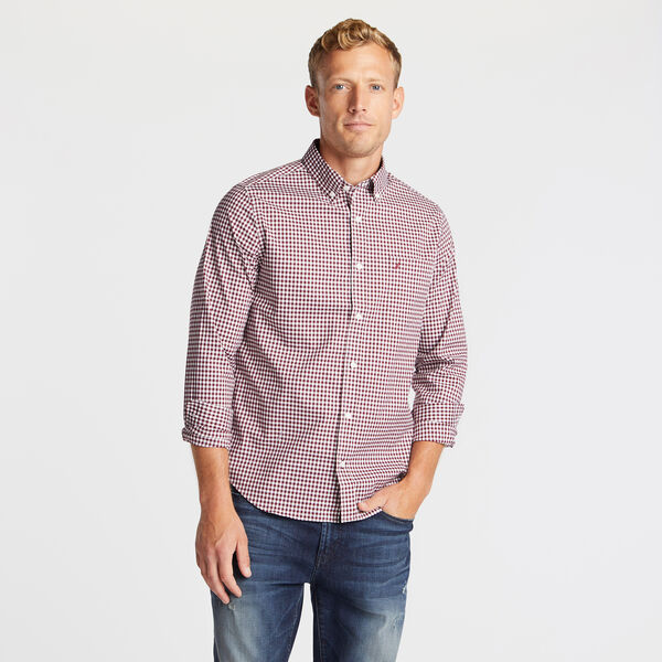 SLIM FIT WRINKLE-RESISTANT SHIRT IN PLAID - Zinfandel