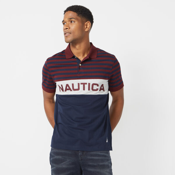 CLASSIC FIT STRIPED POLO - Royal Burgundy
