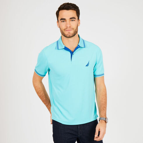 Solid Classic Fit Navtech Polo - Sapphire