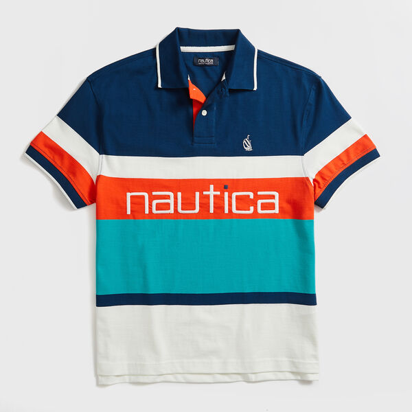 COLORBLOCK STRIPE SPINNAKER POLO - Admiral Blue