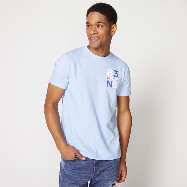 NS-83 GRAPHIC TEE,Azure Blue,large