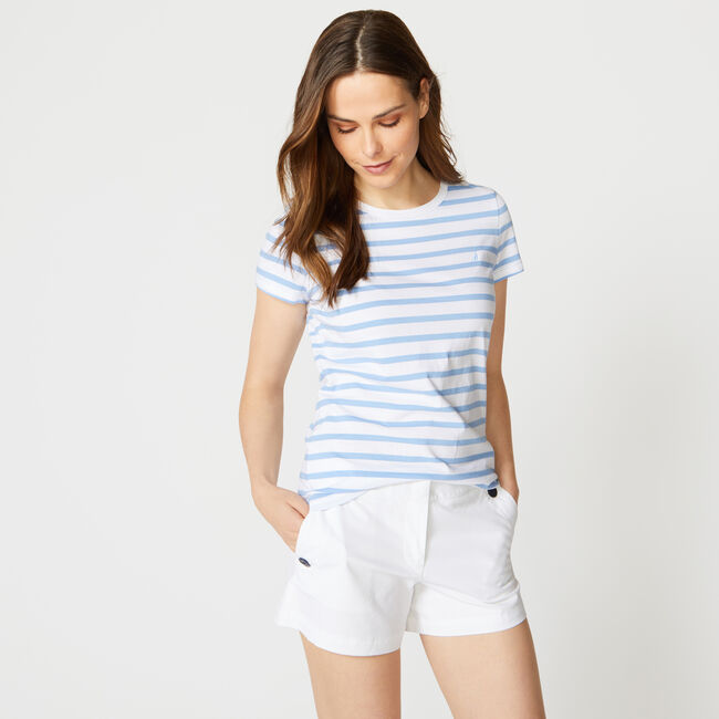 CLASSIC STRIPE T-SHIRT,Bolt Blue,large