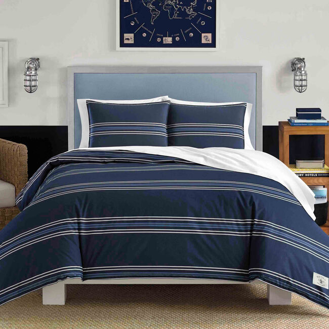 Acton Full/Queen Duvet Set,Pure Dark Pacific Wash,large