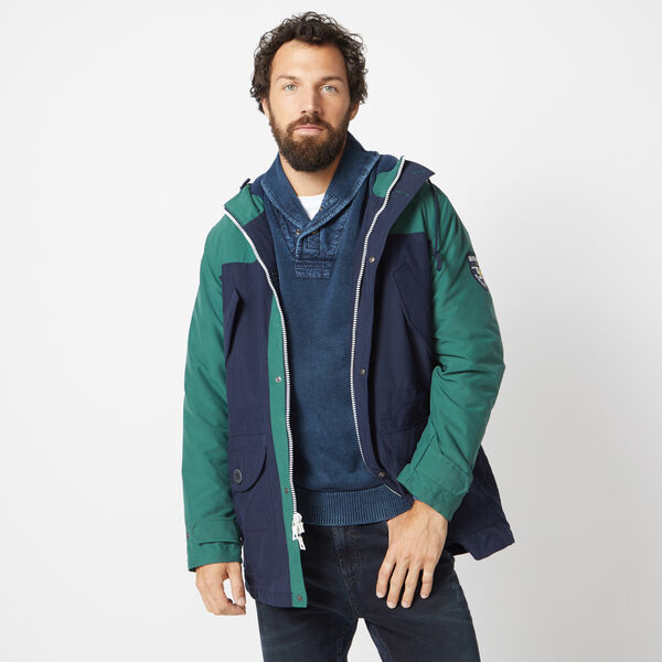 NAUTICA JEANS CO. HOODED FIELD JACKET - Pure Dark Pacific Wash