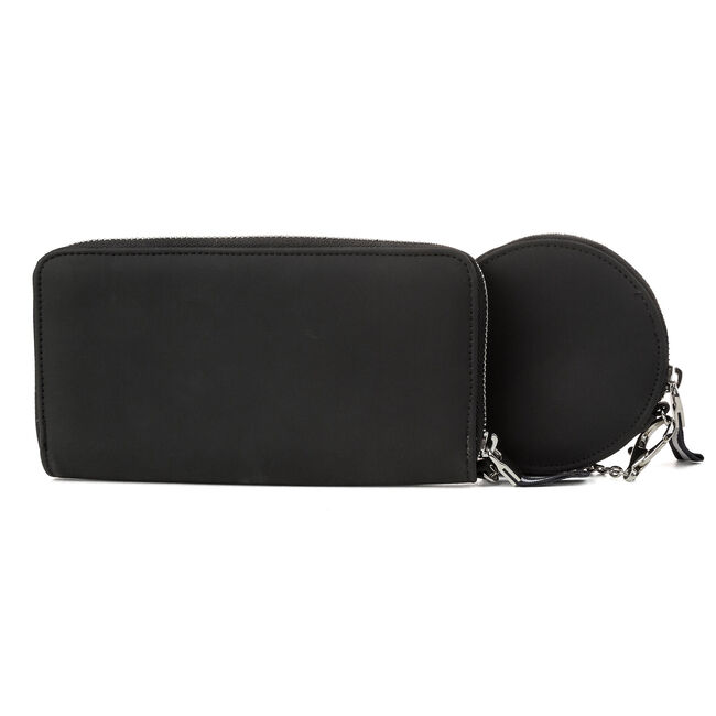 Rope & Anchor Continental Wallet with Coin Purse,True Black,large