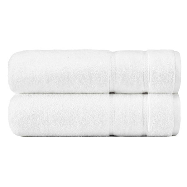 Belle Haven Bath Towel Set, 2-Piece - Bright White