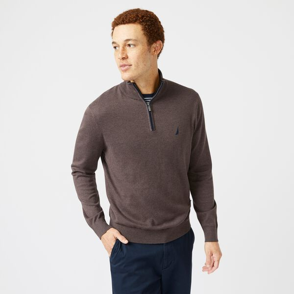 NAVTECH QUARTER-ZIP SWEATER - Sable Heather