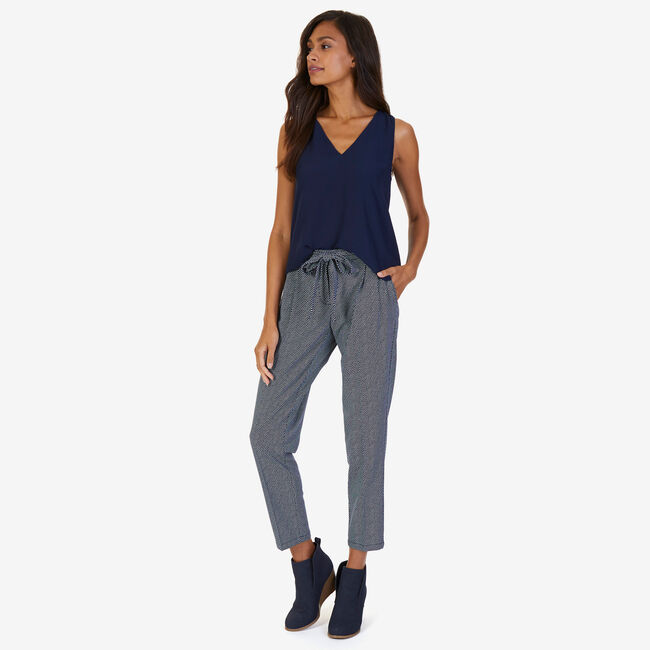 Pleated Belted Trousers,Deep Sea,large