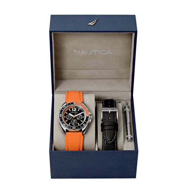 Sport Ring Watch Box Set - Orange,Multi,large